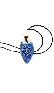 Colar Difusor Pessoal - Silvana Novelli - Flor de Lótus (Azul)