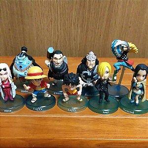 Não Lacrado - Conjunto de 9 Figuras One Piece ( Já expostos)