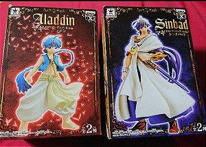 Set com 2 figuras Alladin e Sinbad