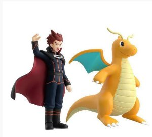 Lance e Dragonite Pokemon Scale World Bandai