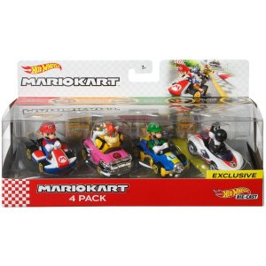 Hot Wheels Mario Kart 4 Pack 1:64 Bundle