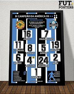 Pôster Grêmio Campeão da Libertadores 1995 - 29,7 x 42 cm (A3)