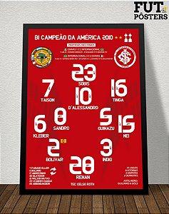 Pôster Internacional Bi Campeão da Libertadores 2010 - 29,7 x 42 cm (A3)