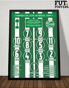 Pôster Juventude Campeão da Copa do Brasil 1999 - 29,7 x 42 cm (A3)