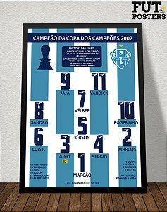 Pôster Paysandu Campeão da Copa dos Campeões 2002 - 29,7 x 42 cm (A3)