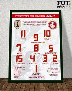 Pôster Internacional Campeão do Mundo 2006 - 29,7 x 42 cm (A3)