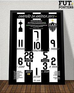 Pôster Atlético Mineiro Campeão da Libertadores 2013 - 29,7 x 42 cm (A3)