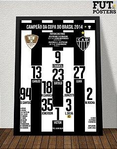 Pôster Atlético Mineiro Campeão da Copa do Brasil 2014 - 29,7 x 42 cm (A3)