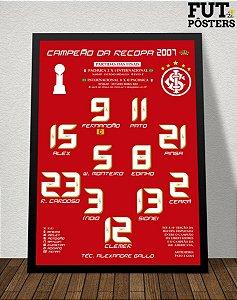 Pôster Internacional Campeão da Recopa 2007 - 29,7 x 42 cm (A3)