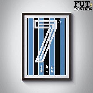 Pôster Ídolos Imortais Grêmio - 29,7 x 42 cm (A3)