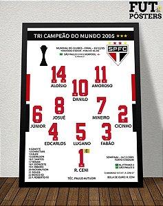 Pôster São Paulo Campeão do Mundo 2005 - 29,7 x 42 cm (A3)