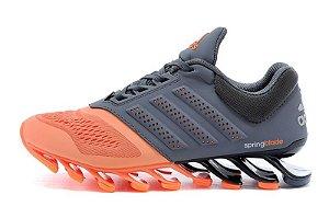 Adidas Springblade Drive 2.0 - Cinza c/ Laranja