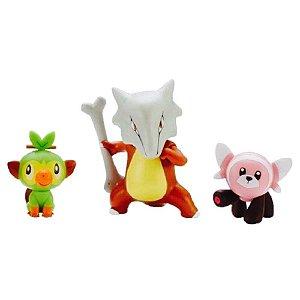 Pokémon Battle Set - Marowak + Grookey + Stufful - Sunny