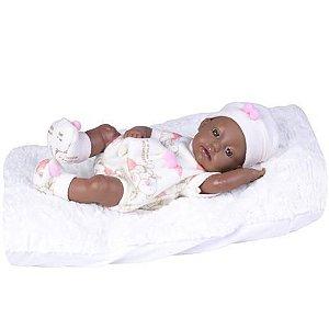 Boneca Bebê Reborn Negra Super Realista + Acess - Supertoys
