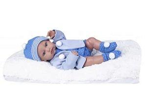 Boneca Bebê Reborn Menino Super Realista + Acess - Supertoys
