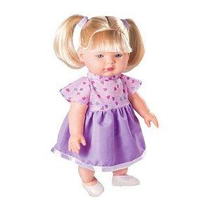Boneca Nelly Doll - Loira -  Fala 100 Frases - 40cm - Milk