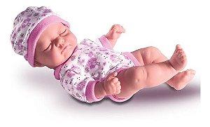 Boneca Bebê Petit Reborn Dormindo - 100% Vinil - 23cm - Milk