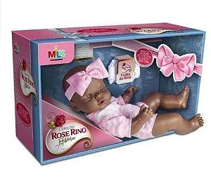 Boneca Bebê Reborn Negra - Coleção Rose Ring - Milk