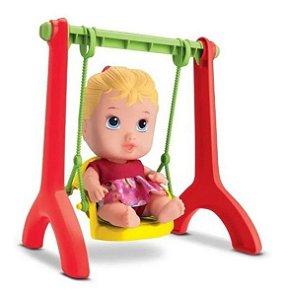 Boneca Balancinho Menina Little Dolls Playground - Divertoys