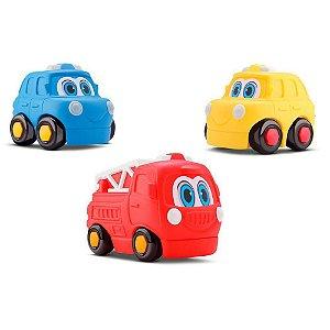 Carrinhos Coleção Resgate Baby Start Soft Car - 3un - Silmar