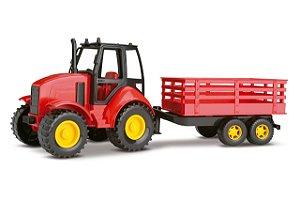 Trator Infantil Com Carreta - Agromak - 40cm - Silmar