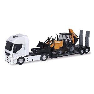 Caminhão Hi Way Iveco + Trator Retroescavadeira Case - Usual