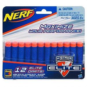 Refil Dardos Nerf N-Strike Elite - 12 dardos A1454- Hasbro