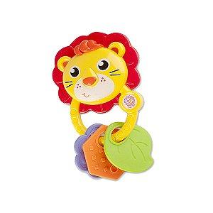 Chocalho E Mordedor Para Bebê - Leão Leãozinho - Zoop Toys