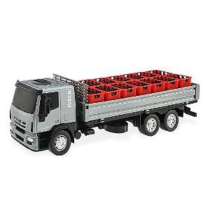 Caminhão Carreta Iveco Tector Dropside/Bebidas - 32cm -Usual