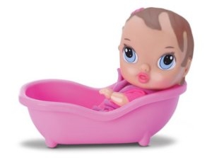 Boneca Bebê Little Dolls Banho - Morena - Divertoys