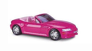 Carrinho Roadster Conversível para Bonecas Barbie - Rosa - Roma Brinquedos
