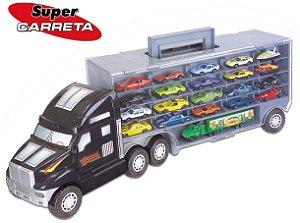 Super Carreta Cegonha com 20 carrinhos + 01 Mini Carreta - Braskit