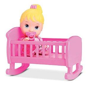 Boneca Bebê Little Dolls - Bercinho - Divertoys