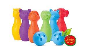 Jogo de Boliche Infantil Bichinhos - Roma Brinquedos