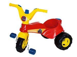 Triciclo Velotrol Heróis com Haste e Som - Supertoys