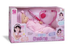 Boneca Bebê Check-me - Acessórios Médico - Roma Brinquedos