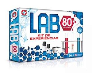 Jogo de Ciências Lab 80 com kit de experiências - Estrela
