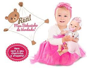Boneca Bebezinho Real - Menina - Roma Brinquedos