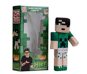Boneco Tazercraft Mike - 32cm - Gamesplay de Minecraft - ZR Toys