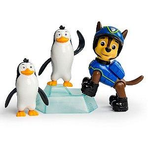 Patrulha Canina - Pack de Resgate Amigo - Chase e Pinguins - Sunny