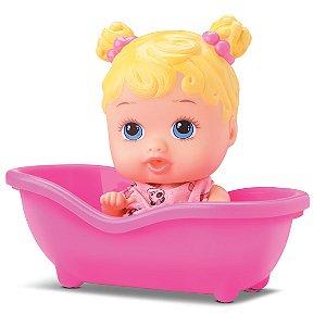Boneca Bebê Little Dolls Banheirinha - Branca - Divertoys