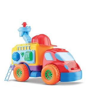 Caminhão Bombeiro de Atividades - Diver for Baby - Divertoys