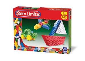 Sem Limite Basic - Blocos de Montar - 140 peças - Roma Brinquedos