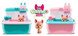 Maleta Doutor Dr. Canino - Veterinário e Pet Shop - Rosa/Azul - Roma Brinquedos