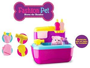 Maleta Fashion Pet - Hora do Banho - Pet Shop Gatinho - Roma Brinquedos