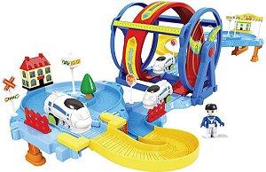 Trem Trenzinho Looping - Miniatura com Pista - Braskit