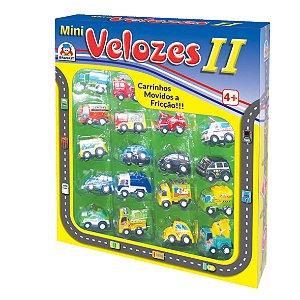 Carrinho Mini Velozes II - 18 Carrinhos a fricção - Braskit