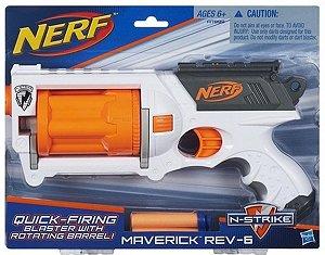 Lançador Nerf Maverick Rev-6 - Nova Edição - A7998 - Hasbro