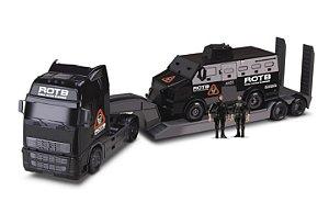 Caminhão + Tático Blindado - Roma Diesel - 82cm - Roma Briquedos