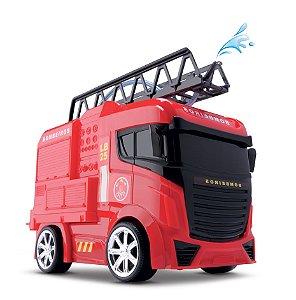 Caminhão Bombeiro - Solta Água de Verdade - Next Race Fire - Roma Brinquedos